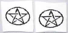 Pair of Pentagram Magic Star Wrist Sweatbands Wristbands Exercise Running MMA