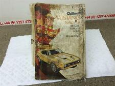 Ford mustang owners book-mustang repair & tune up guide - 1965 - 1973 ans
