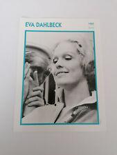 Eva Dahlbeck - Fiche cinéma - Portraits de stars 13 cm x 18 cm