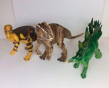 Dinosaur Figure Lot of 3 Allosaurus Stegosaurus Pachycephalosaurus 6� 7� Figures