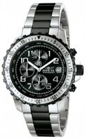 Invicta Specialty Chronograph Black Dial Two-tone Men's Watch 6398