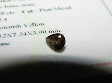 Rare Certified Beautiful Eye Clean Pear Cut 1.28ct Colour Change Garnet.