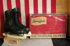 Vintage Canadian Flyer Figure Skating Womens Ice Skates Springfield Sz.5 w/Box