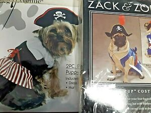 HALLOWEEN PIRATE PET COSTUME, XSM. SIZE, DOG COSTUMES, CLEARANCE DEALS
