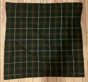 Polo Ralph Lauren SKATING PARTY Euro Sham Green Navy Red Yellow Tartan Plaid