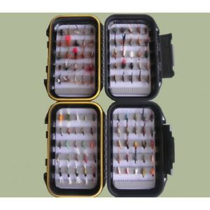 Trout Flies 100, 2 Boxed Sets, Mixed Dry, Nymph, Buzzers & wet Flies Nice Gift
