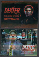 ALBUM BINDER PROMO CARD SET: DEXTER SEASON 3 (BREYGENT/2010) 1 & 2