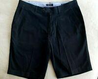 Nautica Chino Beacon Shorts Navy Blue Size 34 Tailored Fit Straight Leg Pockets