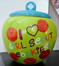 Girl Scouts Cookie Jar I Love Girl Scout Cookies 2013 I Heart GSC Green Blue