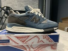 New Balance 998 Pool Blue Suede Sneakers Mens 11 M998LL Made In The USA