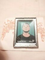 Andy Warhol 37  cent stamp Pin collectible vintage estate find beveled brooch