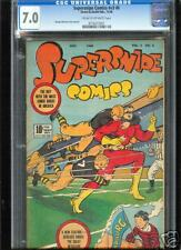Supersnipe Comics v3 #6  CGC  7.0  FN/VF  Universal