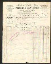 """LYON (69) USINE à PLOMBS de NEUVILLE-sur-SAONE """"ARTHAUD & LA SELVE"""" en 1895"""