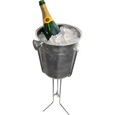 Champagne & Wine Bucket with Stand - Stainless Steel Ice Bucket - Bar/Restaurant