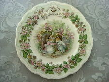 Vintage ROYAL DOULTON BRAMBLY HEDGE Summer Fine Bone China Plate-Made in England