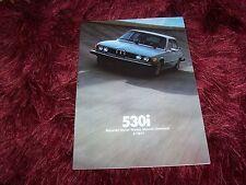 Prospectus / Brochure BMW 530 i 1977 USA //