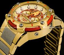 Invicta Men Marvel Iron Man Bolt Chronograph 18K Gold Tone Bracelet Watch 25781