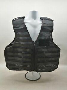 Molle Tactical Utility Vest Black Aegis Uniform SIA Patrol Duty Security Grade 1