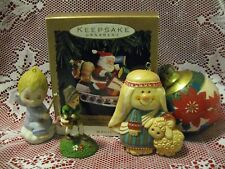 1970's VINTAGE CHRISTMAS ORNAMENTS - HALLMARK - LOT OF FIVE
