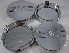 "4x GMC Chrome Center Wheel Center Hub Caps Sierra Denali Yukon 83MM 3.25"""