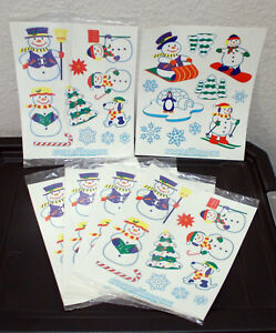 Snowman's Family - Christmas Holiday Vinyl Decals - Nine Sheets Total - New