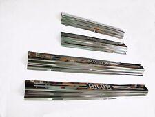 4 Door sill Stainless steel scuff plate Trim Toyota hilux MK6 SR5 Vigo 05 - 14