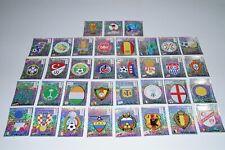 PANINI 02 WM 2002  - alle 35 Glitzer/Wappen (incl. Irland) Top/Rare