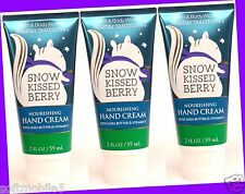 3 Bath & Body Works SNOW KISSED BERRY Shea Butter Nourishing Hand Cream WINTER