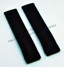 21mm Black Rubber Watch Strap Band Compatible For Tissot T-Race T048 , T027