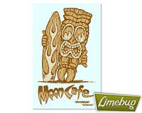 Mooneyes Tiki Moon Cafe Sticker Surf Decal VW Beetle Hotrod American Stickers