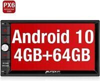 Pumpkin Android 10 autoradio 2 din PX6 64GB+ 4GB Navigazione Bluetooth DAB+ WiFi