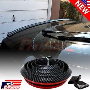 2017 Universal Spoiler Lip Carbon Fiber Rear Roof Trunk Chin Skirt Sport Wing