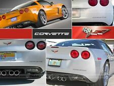 BLACK CHEVROLET CORVETTE C6 2005-2013 REAR BUMPER LETTERS INSERTS NOT DECALS