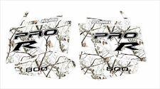 POLARIS RUSH PRO RMK r  ASSAULT 800 WRAP DECAL STICKER camouflage white camo