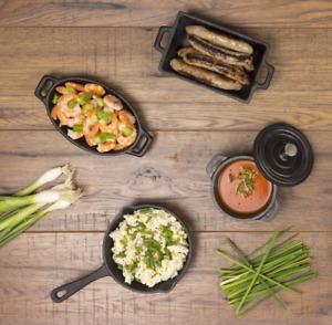 Valiant Miniature 4-Piece Cast Iron Stove Cookware Set - FIR554