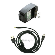 Battery Wall AC Charger+USB Cable for Sony Playstation PSP-110 1001 1000 2000