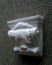 """Fassadenkonsole, Winkelstütze """"Blatt"""" Steinguss, Wandkonsolen, 22 cm, Konsole"""