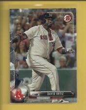 David Ortiz 2017 Bowman Card # 52 Boston Red Sox Baseball MLB Big Papi