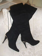 New Look High (3-4.5 in.) Faux Suede Boots for Women