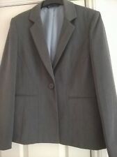 LADIES GREY BHS JACKET SIZE 12 LINED SHAPED LONG SLEEVED BUSINESS OFFICE CASUAL