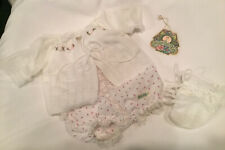 Vintage Cabbage Patch Outfit Knit Sweater Romper Purple Rosebud Outfit Botties