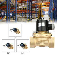 """G1-1/2"""" Brass Electric Solenoid Valve for Water Air Gas Normally Closed N/C"""