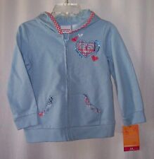 NWT Sonoma little girls hooded jacket sweatshirt 24 mo New With Tag