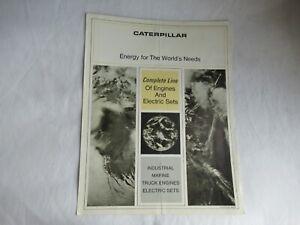 CAT Caterpillar industrial D348 truck D399 D336 D334 marine engines brochure