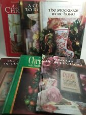 Lot of 6 Hardback Books Counted Cross Stitch Craft Christmas Holidays