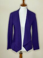 Chico's 0 Purple Textured Open Front Long Sleeve Sweater Cardigan Women's