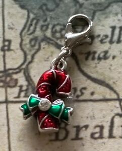 Brighton CHRISTMAS MEMORIES Candy Cane Red  White Holiday Merry Silver Charm