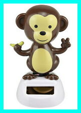 Solar Swinging Monkey Novelty Collectible Toy Bubble Head Solar Powered