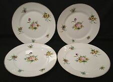 Noritake Hand Painted Nippon 4 Dinner Plates Bouquets 1914 Mark (Please See) HTF
