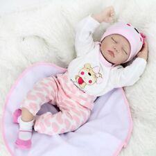 22inch Handmade Reborn Baby Dolls Vinyl Silicone Newborn Bebe Doll Birthday Gift